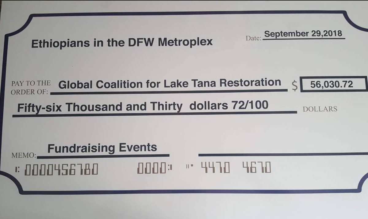 Dallas Fundraising – GLOBAL COALITION FOR LAKE TANA RESTORATION